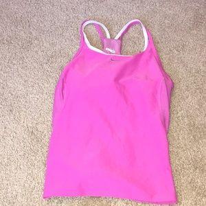 Pink athletic shirt